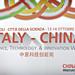 """China – Italy Science & Technology Week"" 13 - 14 ottobre 2014"