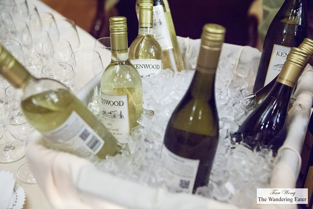 Our wines for the reception - Kenwood Rioja or Sauvignon Blanc
