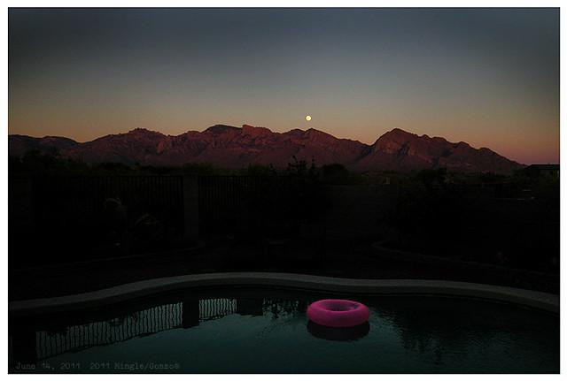 moonrise over pink tube