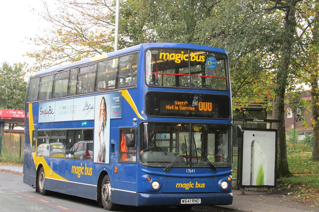 Stagecoach in Manchester 17641 W641 RND Not in Service on Wilsmlow Road, Rusholme
