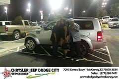 Dodge City McKinney Texas Chrysler Jeep Dodge Ram SRT Dallas Dealer Testimonials Customer Reviews -Mary Jackson