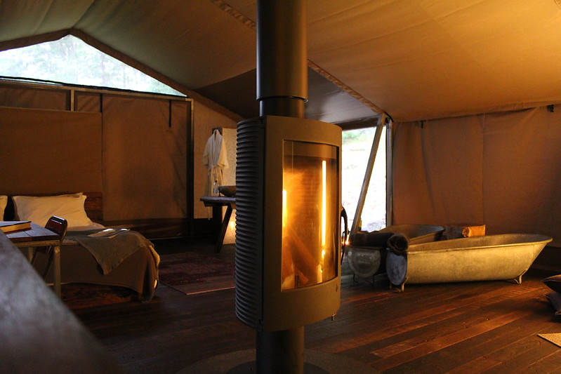 Increasingly, shelter abodes include unique features that provide memorable moments for glampers staying