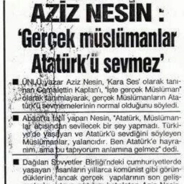 Atatürkçü Aziz Nesin Atatürk Müslümanlar Açısından Sevi Flickr