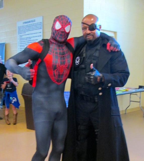 Nick Fury and Spiderman