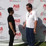 Elyes Gabel speaking with Fred Fisher