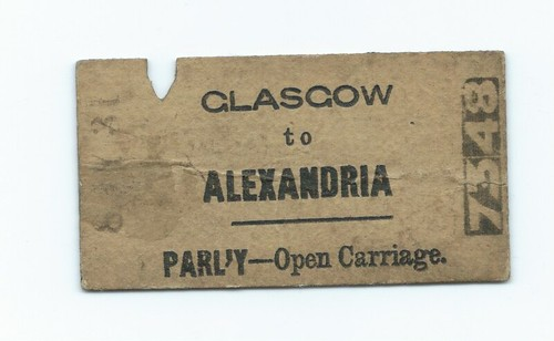 Glasgow, Dumbarton and Helensburgh Railway Ticket undated | by ian.dinmore