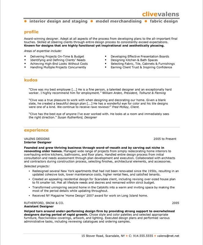 Interior Design Sample Resume Allresumetemplates Net 629 I Flickr