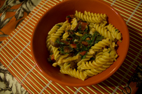 Gardeny Shiitake and Chard Fusilli | by rachelakelso