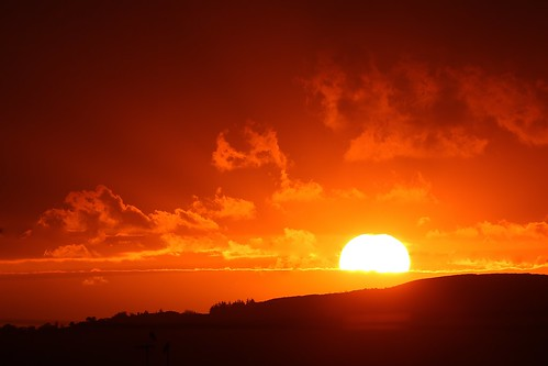 sun sky morning cloud clouds dawn newday colour colours hill view scenery ballygannon rathdrum wicklow ireland sunrise