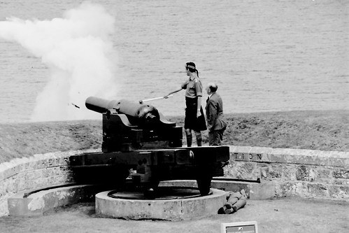 firing a Cannon at Fort George 1982