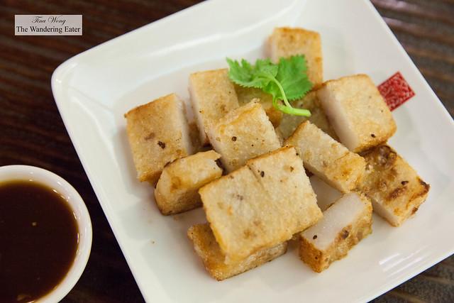 Pan fried turnip cakes
