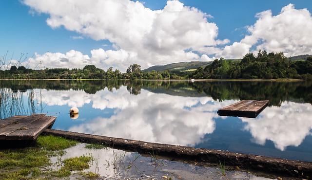 Lanalhue espejo de nuves