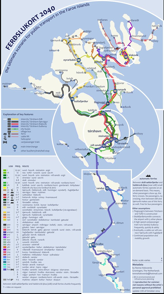 Transport On The Faroe Islands This Map Is A Visionary Sce Flickr