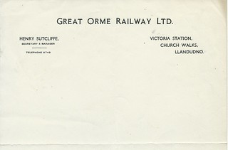 Great Orme Railway undated letterhead | by ian.dinmore