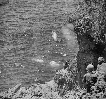 Mujer japonesa se suicida ante marines en Saipan
