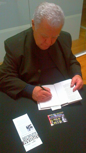 Jaime Lerner Signing HiMY SYeD's book - Urban Acupuncture with Jaime Lerner, Urbanspace Gallery, 401 Richmond, Toronto Ontario Canada, Monday October 20 2014 | by HiMY SYeD / photopia