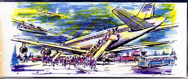Trans Caribbean Airways Christmas Card Washington DC