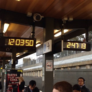 Actual time 09:21. Well done PTV. Well done. #timetravel #nunawading #ptv | by griffmiester