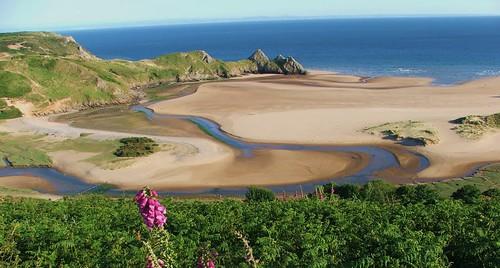 best beach sea coast amazing scenery wales blue sky sand sandy walks views uk