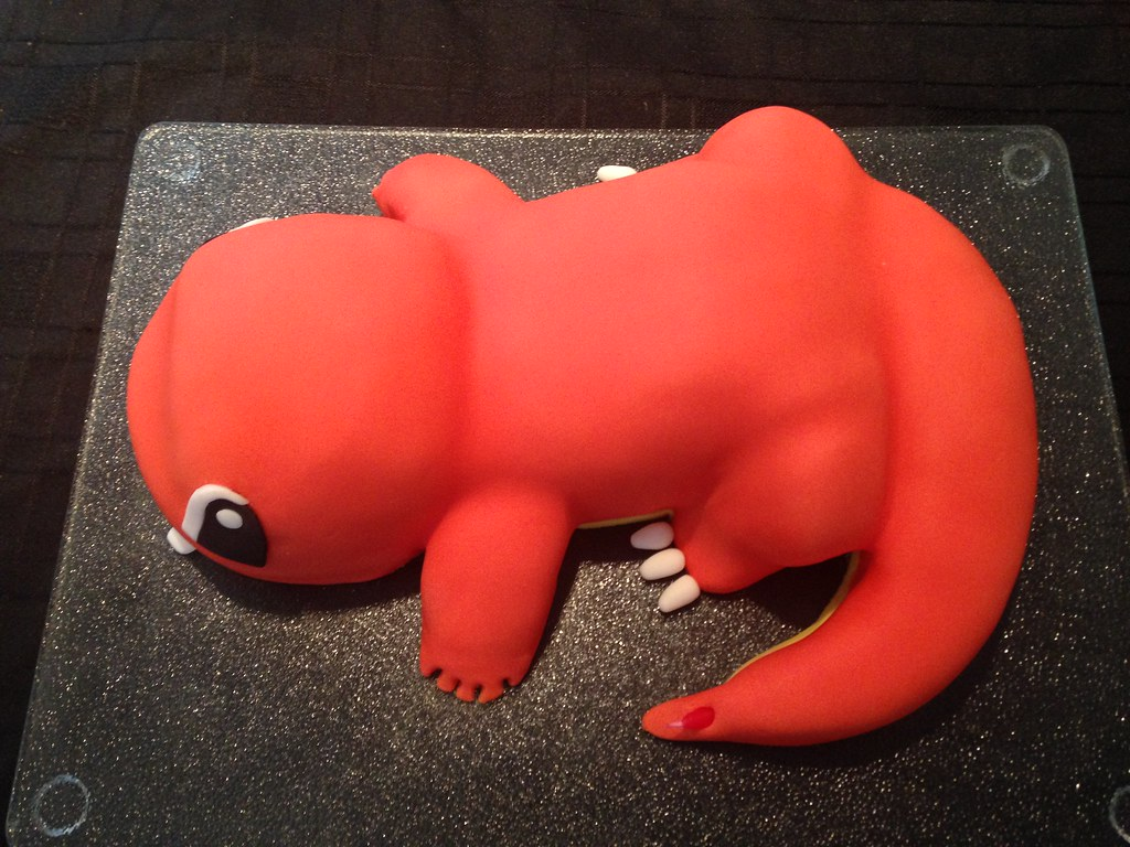 Enjoyable Charmander From Pokemon Birthday Cake Debbie Windsor Flickr Funny Birthday Cards Online Alyptdamsfinfo