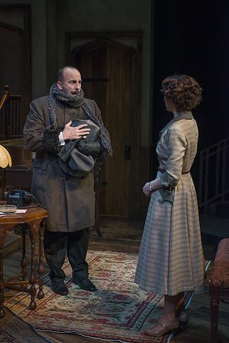 Joe Dempsey (Mr. Paravicini) and Cora Vander Broek (Mollie Ralston)