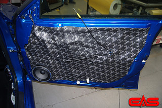 Full door dampening cuts rattles, outside noise, and isolates the sound from the back of the speaker, ensuring the highest efficiency of the speaker. | by eliteautosalon719