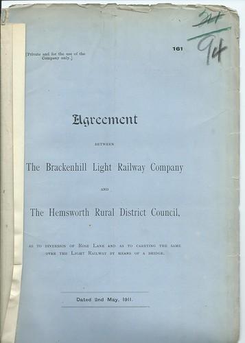 Brackenhill Light Railway agreement 1911 | by ian.dinmore