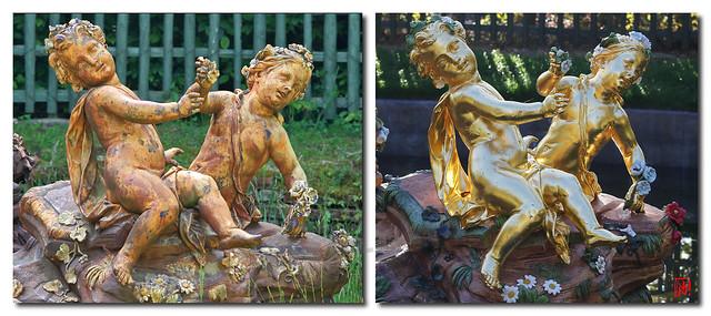 De plomb et d'or ces angelots restaurés