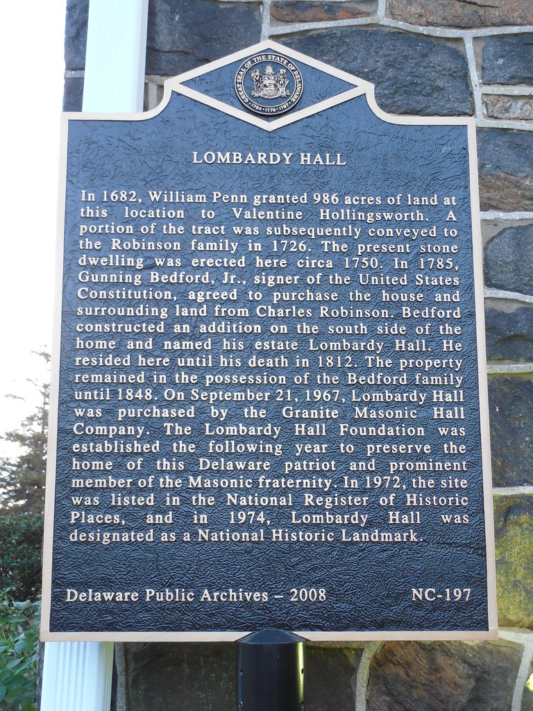 Lombardy Hall Historic Marker | At the Lombard Cemetery on ...