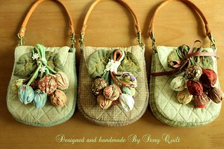 DIY Tulips Pouch Patchwork quilted digital pdf pattern in Etsy