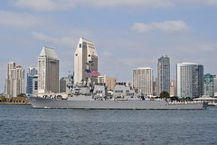 In this file photo, USS Milius (DDG 69) departs San Diego during a previous deployment. (U.S. Navy/MC2 Zachary Bell)