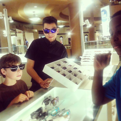 Ethan, first day on the job as Jr sunglasses sales associate.  #igniteJuniorHigh | by ACME-Nollmeyer