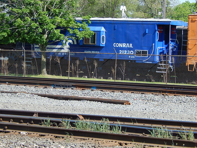 Conrail caboose at the NYC Museum
