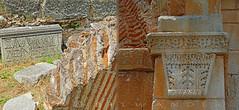 Greece, Macedonia,   Philippi, byzantine fragments with Greek inscriptions