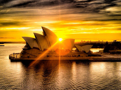 architecture sunrise sydney operahouse