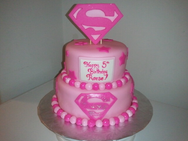 Swell Super Girl Cake Tiffany Connor Flickr Funny Birthday Cards Online Inifodamsfinfo