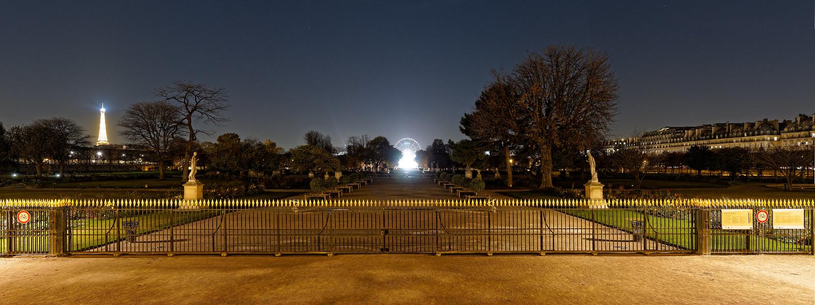 Vue sur le jardin des Tuileries / View on the Tuileries garden