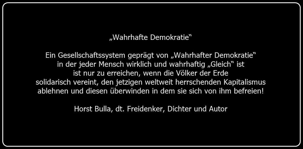 Wahrhafte Demokratie Ist Nur Durch Die Solidarische Gemein
