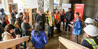 Passive House building tour at The Heights: Dylan Heerema  (Pembina Institute) | by pembina.institute