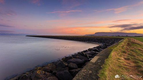 seawall sunrise dawn morning sun sunlight sunlit early colourful colourfulclouds clouds rocks reflections reflection reflected curves leadinglines seascape seadefence winter binevenagh benevenagh binevenaghmountain myroe ballymacran ballymacranbank inishowen hills donegalhills donegal countydonegal limavdy countyderry countylderry northernireland ulster blueskies canon canon5dmkiii canon1740f4lusm leefilters lee graduatedfilter ireland longexposure lough loughfoyle water