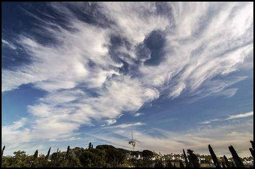 barcelona blue sky cloud clouds spain nuvole nuvola bcn catalonia tokina cielo nubes catalunya azzurro nube barcellona montjuic catalunia 1116 d7100