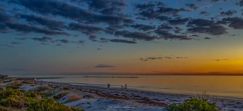 adelaide beach blue breakwater goldenhour seascape semaphore sky southaustralia sunset water orange semaphoresouth australia au
