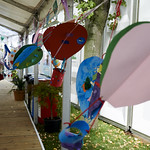 Balloons and bunting | Little ones have been getting crafty, making beautiful balloons to adorn our walkways © Helen Jones