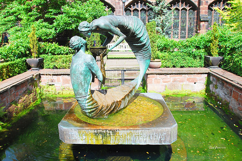 sculpture statues chester 1001nights artworks chestercathedral magiccity wateroflife