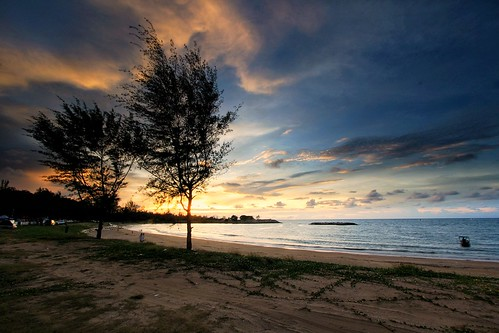 Sunset at Jerudong Beach, Brunei Darussalam