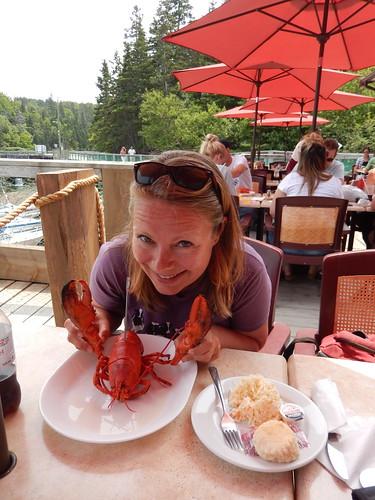 Halls Harbour - birthday lobster