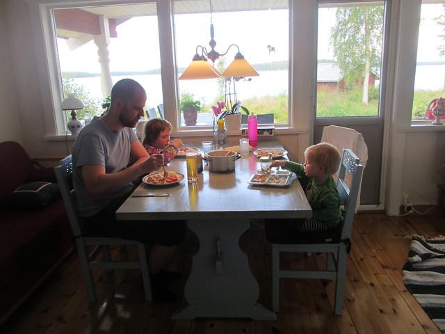 Matdags i stugan