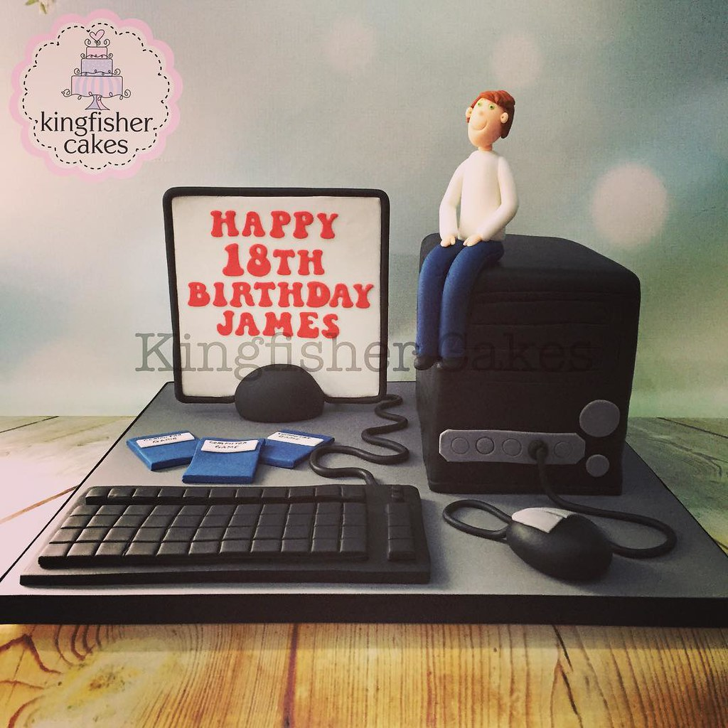 Outstanding Yesterdays Computer Cake Fab Boys 18Th Birthday Cake Funny Birthday Cards Online Barepcheapnameinfo