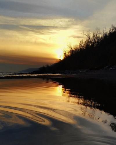 sunset ontario reflectingpool canada scarborough color