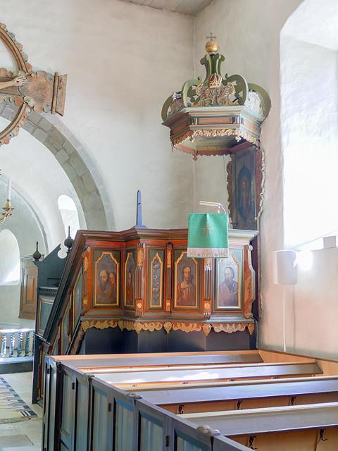 Predikstol, Alva kyrka, Gotland